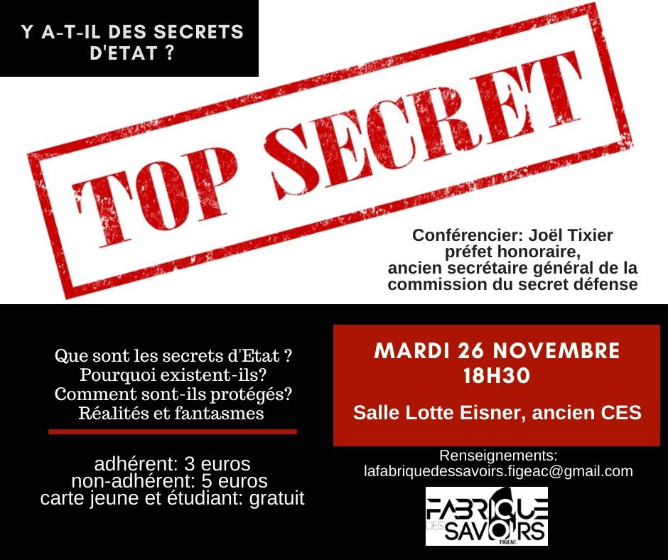 Secret d etat facebook